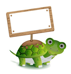 turtle and text board