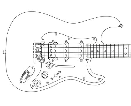 Electric Guitar Outlines
