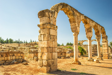 Temple of Jupiter, Baalbek, Lebanon. It is Lebanon's greatest Roman treasure,
