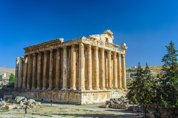 The Temple of Bacchus in Baalbek in Lebanon.