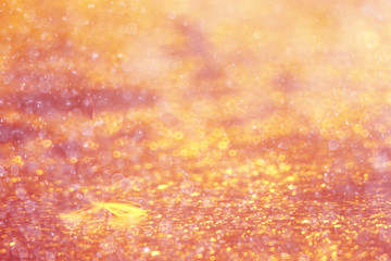 blurred bokeh abstract orange background