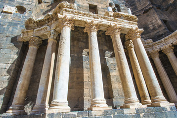 Columns of theRoman Theatre at Bosra, Syria. It was built in the second quarter of the 2nd century CE.