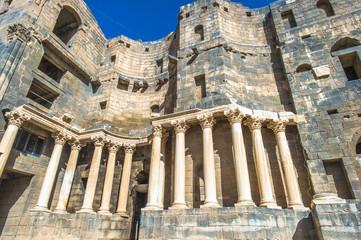 Roman Theatre at Bosra ,  an ancient Roman theatre in Bosra, Syria.