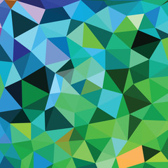 Abstract Triangle Geometrical Multicolored