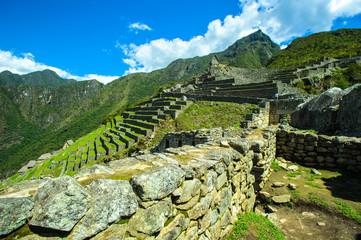 Sight of Machu Picchu,  UNESCO World Heritage Site, Peru, Latin America