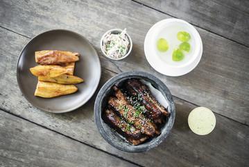 glazed pork ribs asian fusion style