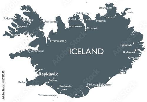 Iceland map\