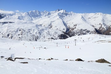 France skiing - Valmeinier. French Alps.