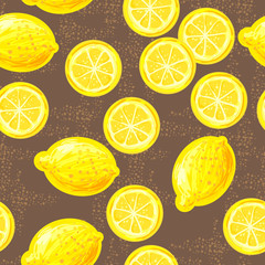 Seamless pattern with lemons. Perfect for wallpapers, pattern fills, web page backgrounds, surface textures, textile