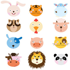 Cute Animal Heads Element