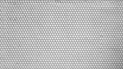 White ceramic circles tiles
