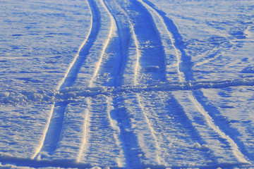 snow texture tracks in the snow winter