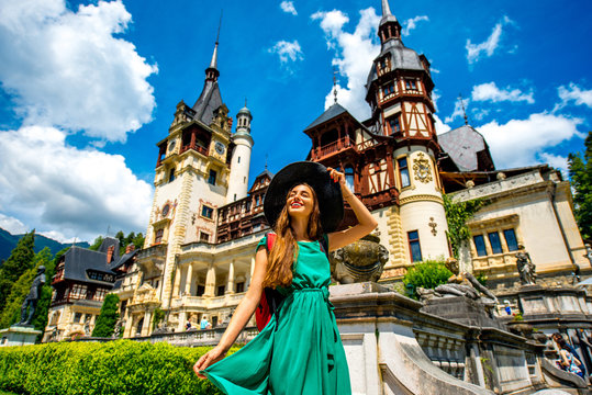 Tourist in Peles castle