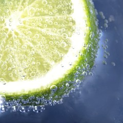 Lime in sparkling water