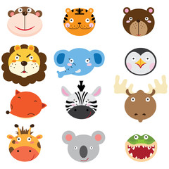 Cute Animal Heads Set
