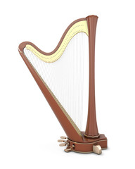 Harp isolated on a white
