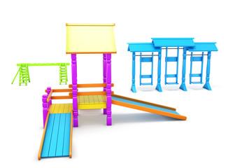 Children playground isolated on white background