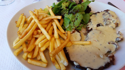 Steak Frites with Bearnaise Sauce