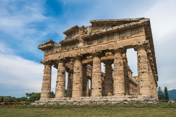 Second temple of Hera at Paestum archaeological site, one of the
