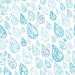 Seamless rain pattern.