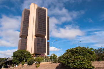 Central Bank of Brazil Headquarters Building in Brasilia