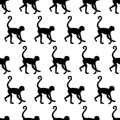 Seamless pattern background with monkeys. Symbol of 2016 year.