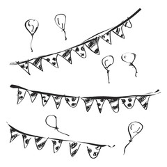 Simple doodle of a bunting