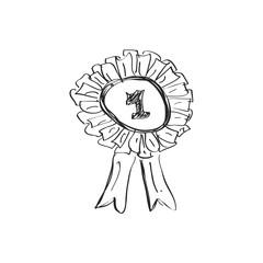 Simple doodle of a rosett