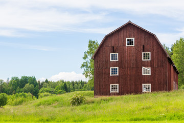 An Old Red Swedish Barn
