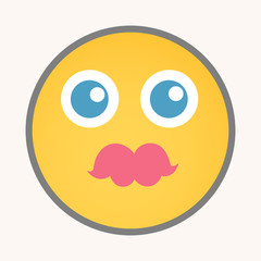 Kissing - Cartoon Smiley Vector Face