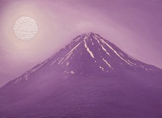 河口湖からラベンダーの富士
