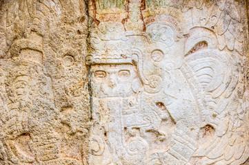 Ancient draws of Maya civilization, Chichen Itza, Mexico