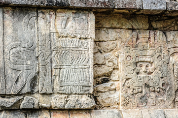 Ancient draws of Maya civilization, Chichen Itza, Mexico