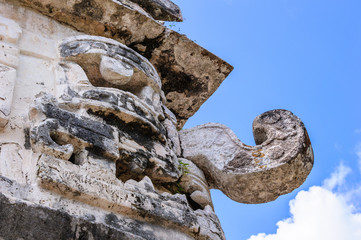 Chaac statue in Chichen Itza, Mexico