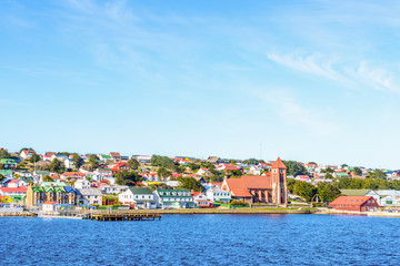 Port Stanley, the capital of the Falkland Islands.