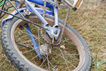 bicycle detail close up