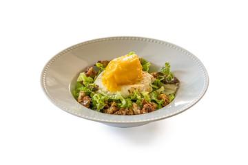 cheese and mango icecream salad