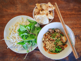 Noodles in Thailand, there are plenty of side dishes