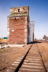 Forgotten Railroad Siding Train Tracks Wood Silo Building