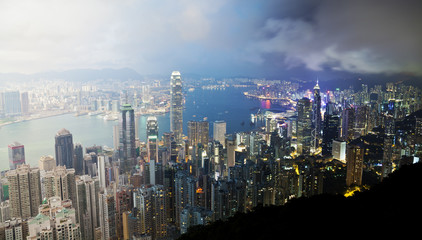 Hong Kong from day to night