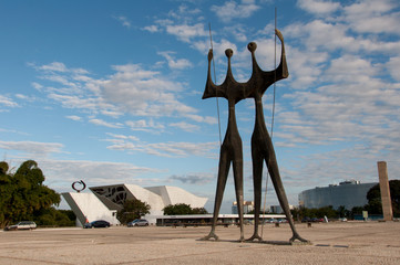 Sculpture of Two Warriors in Brasilia