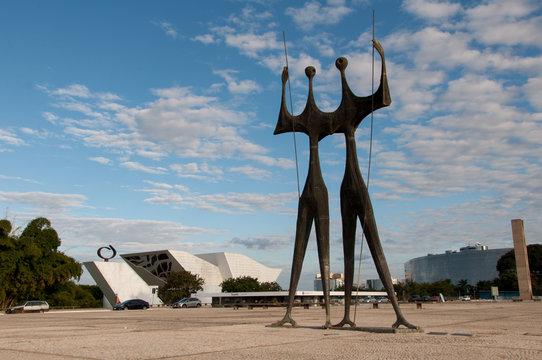 Sculpture of Two Warriors in Brasilia