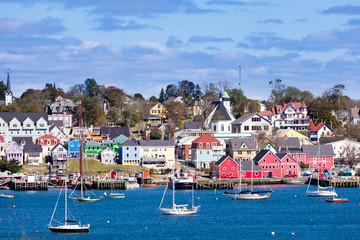 Fotorolgordijn Canada Historic Lunenburg harbor Nova Scotia NS Canada