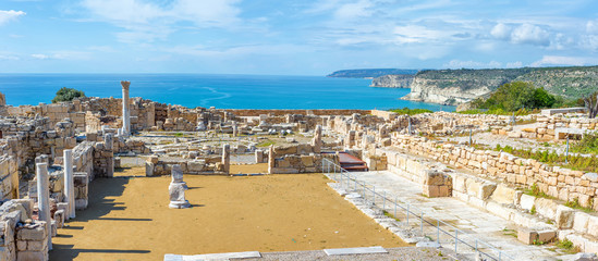 Keuken foto achterwand Cyprus Panoramic view of Kourion archaeological site. Limassol District