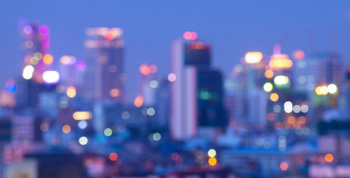 Bangkok blurry abstract