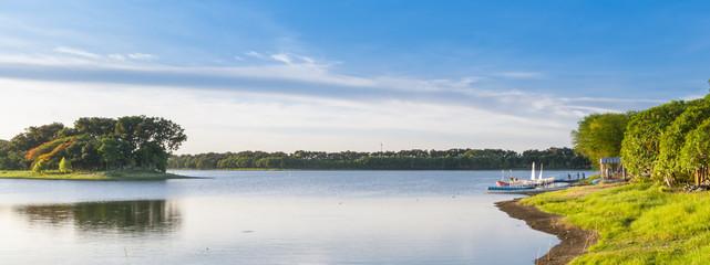 Lake on sunny day