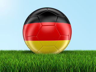 Soccer football with German flag. Image with clipping path