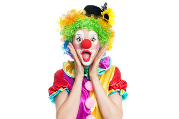 Funny clown - colorful portrait