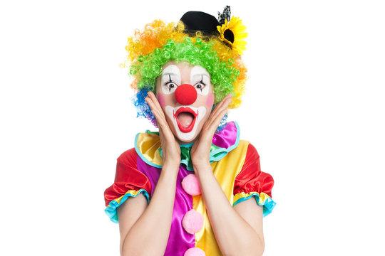Funny clown - colorful portrait