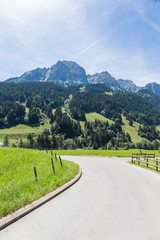Road in the Alps, Switzerland